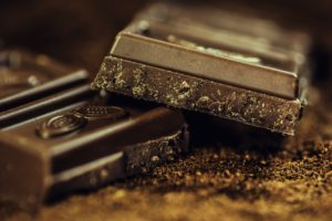 Barra de chocolate quebrada