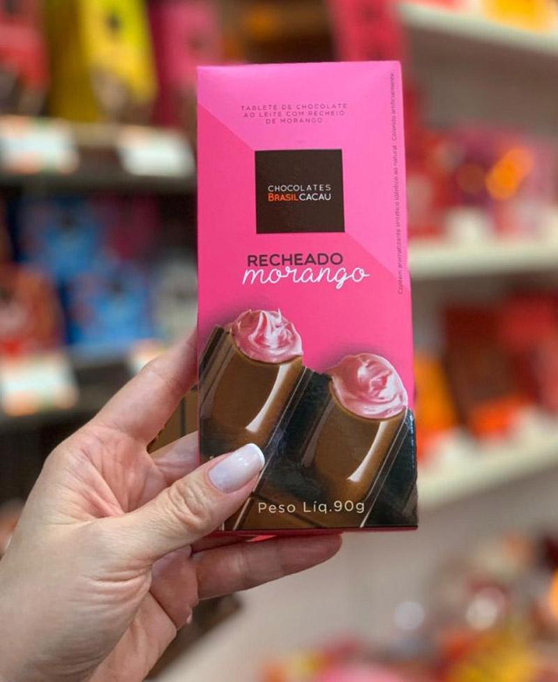 Marcas de chocolate em barra