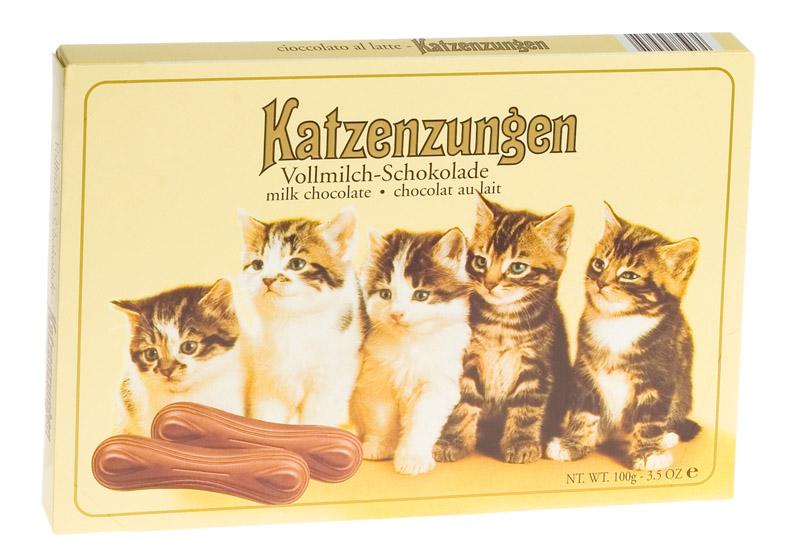 Chocolate língua de gato