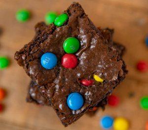 Brownie de chocolate com MM