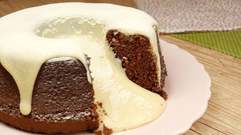 Como fazer bolo vulcão de chocolate